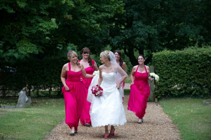Handmade bridesmaids dresses Kim Cannon Essex