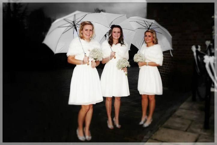 Bridesmaids in white by The Dressmaker by Kim Cannon Studio