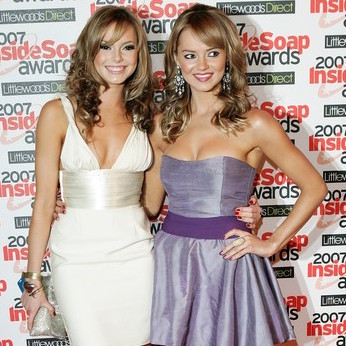 Kara and Hannah Tointon wearing The Dressmaker by Kim Cannon Studio