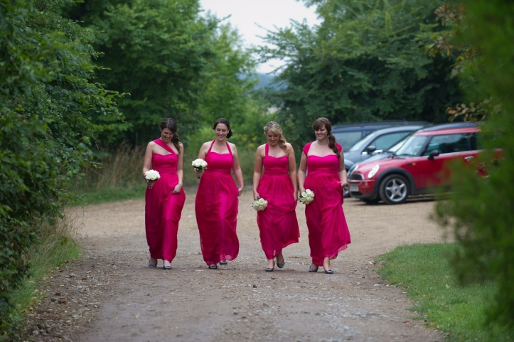 Pink bridesmaid dresses by The Dressmaker by Kim Cannon Studio Leigh on sea