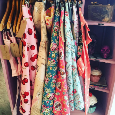 Selection of hand made clothing at The Dressmaker by Kim Cannon Studio Leigh Broadway