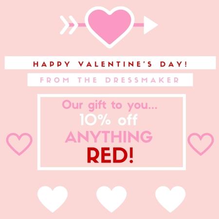 The Dressmaker Valentine's Offer