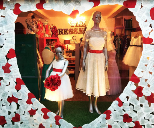 The Dressmaker Leigh Broadway Valentine's window display