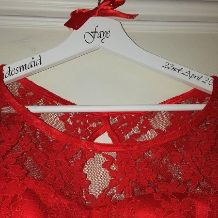 Close up of bridesmaid dress