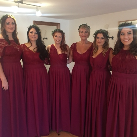 Handmade bridesmaids dresses Essex and London